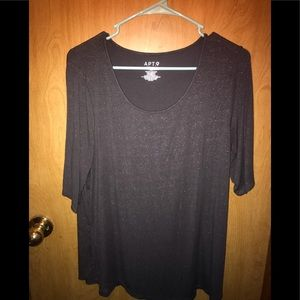 Charcoal Shiny T-Shirt